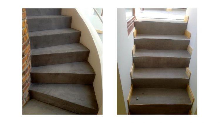 R novation escalier int rieur en b ton cir dans les monts for Construction escalier beton interieur